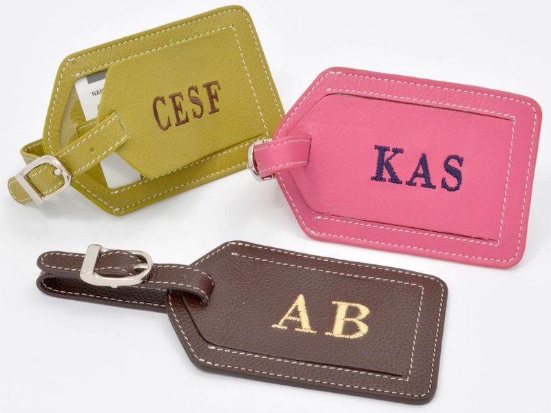 Personalised Leather Luggage Tags On Sale | Luxury Holiday Bargains