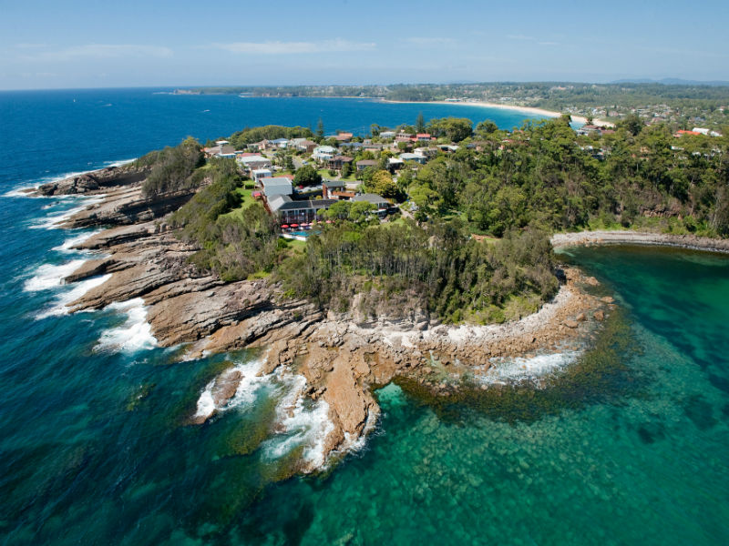 Aerial of Bannisters at Mollymook